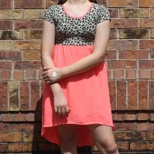 Faded Glory - Girl's Chettah Print & Pink Dress